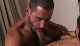 Mature man throats appetizing cock