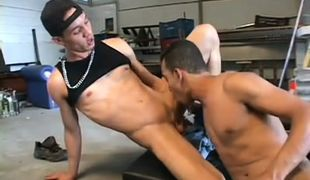 Hot black gay guy fucking in garage in 1 episode