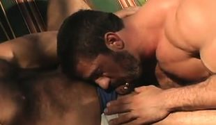 Bear gay sucks his hairy boyfriend