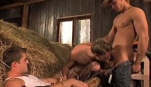 Young cowboys suck cocks in orgy