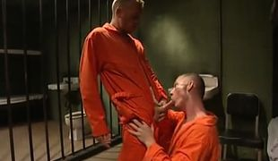 Young prisoner sucks hard cock