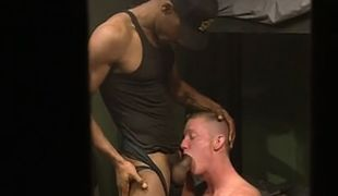 Poor prisoner sucks big black cock