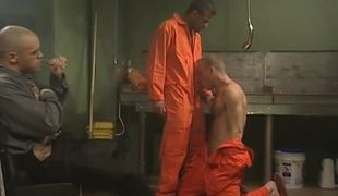 Mature prisoners make blowjob