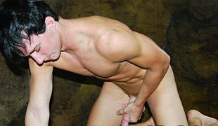 College Dudes - Bryson Hughes busts a nut