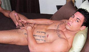 College Dudes - Armando Silva busts a nut