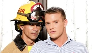 Ripened advisor fireman Rodney saves blonde baby boyish sub Brandon Wilde in a frat house