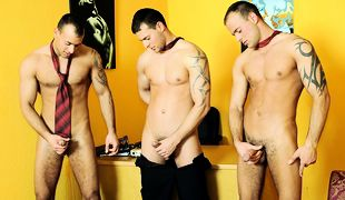Office Threesome Solo, Scene 01