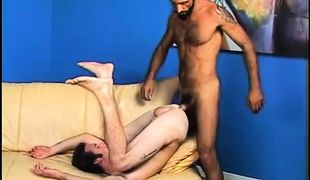 Horny gay dilf fucked by mature hairy man
