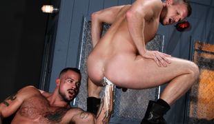 Brian Bonds pulls his ass apart, and Sean Duran eagerly presses his face into Brian's hairy crack