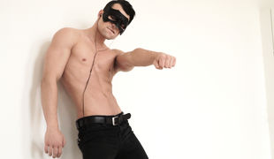Newcomer Nick was hired to remove clothes at a Masquerade