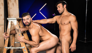 Jonah Fontana makes out with Dorian Ferro, rubbing his hands along Dorian's gorgeous ass