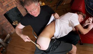 Spanked and stroked off, poor British boy Jacob Daniels faces the punishment of Sebastian Kane