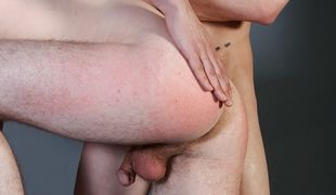Shayne gets his tight little twink ass spanked, his cock wanked, and a hot cum shot too
