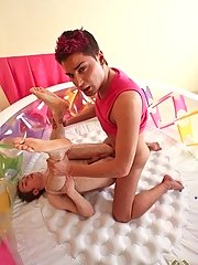 Check out a gay dominant master teaching his pupil about gay pissing