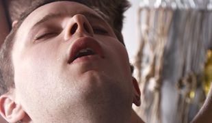 Adam steals the fresh cum from two hard twink cocks in one wank and suck session