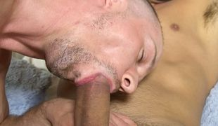 Fellow guest Ryan tempts Dominic into his room for a raunchy no-strings fuck