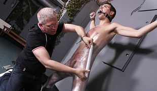 Josh is about to get the kind of cock sucking he's never had before from master Sebastian