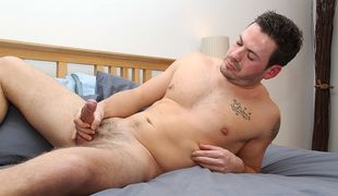 Curious guy Scott wanks out a cum load for the guys while we plan his next visit!