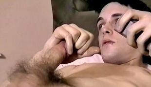 Sexy Aiden stops by to play with his cock and shoot some hot cum for cash