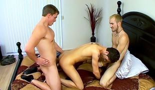 Horny Turk catches Jacob jacking off, and Marcus catches them sucking!