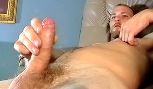 Handsome and horny Matt returns to bust another hot nutt from that uncut shaft