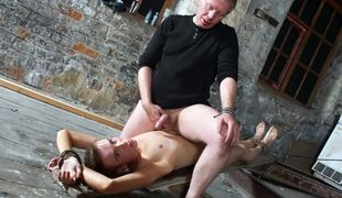 Chad Chambers gets his cock pleasured to a massive cum load by master Sebastian