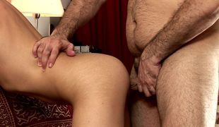 Old gay freak films POV anal with a boy